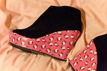 Diy Hello Kitty Wedge Shoes - great site to show you how to upcycle shoes