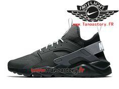 30cc675adc Chaussures Homme Nike Air Huarache Ultra Prix Pas Cher Gery Noir  819685_004-819685_004-Nike