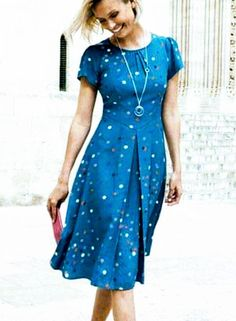 💙 this color Summer Dresses With Sleeves, Modest Dresses, Pretty Dresses, Blue Dresses, Vintage Dresses, Casual Dresses, Fashion Dresses, Short Sleeve Dresses, Dress Summer