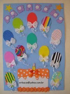 back to school bulletin board ideas Birthday Bulletin Boards, Classroom Birthday, Birthday Wall, Birthday Board, Foam Crafts, Diy And Crafts, Crafts For Kids, School Decorations, Birthday Decorations