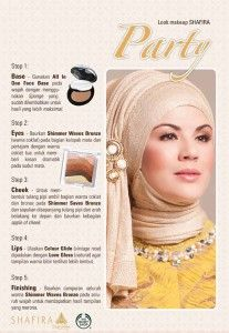 Tips Make Up Party Shafira Fashion And Beauty Tips, Party Makeup, Muslim Fashion, Fashion Brand, Beauty Hacks, Make Up, Collection, Style, Swag