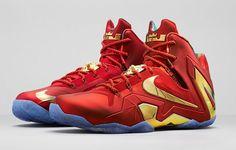 Nike LeBron XI (11) SE 'University Red/Metallic Gold'