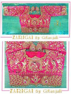 Palanquin Bridal Blouse Saree Jacket Designs, Choli Blouse Design, Wedding Saree Blouse Designs, Pattu Saree Blouse Designs, Blouse Neck Designs, Embroidery Blouses, Hand Embroidery, Embroidery Designs, Pin Interest