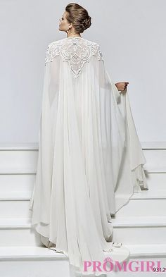 Shop for elegant pageant gowns at Simply Dresses. Sexy evening dresses for pageants, long formal pageant dresses, and designer pageant gowns. Muslim Wedding Dresses, Bridal Dresses, Wedding Gowns, Prom Dresses, Formal Dresses, Formal Prom, Dresses With Capes, Wedding Ring, Mode Abaya