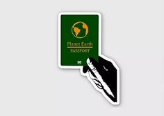 passport earth sticker