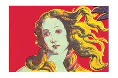 """""""Birth of Venus-Red"""" - Andy Warhol posters and prints available at Barewalls.com"""