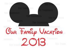Disney Vacation Mickey Inspired Ears - DISNEY PRINTABLES - Perfect for family T-shirt iron on - Digital file on Etsy, $5.00