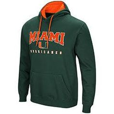 9f814b17317 Miami Hurricanes MENS PLAYBOOK PULLOVER HOODIE - GREEN