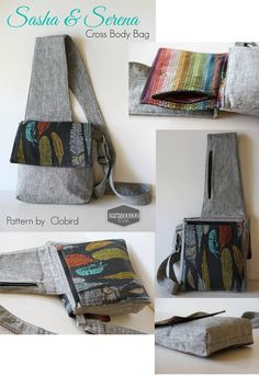 Name: 'Sewing : Sasha & Serena Crossbody Hipster~CloBird Bag Patterns To Sew, Sewing Patterns, Cross Body Bag Pattern Free, Hipster Pattern, Hipster Purse, Backpack Pattern, Wallet Pattern, Tote Pattern, Patchwork Bags