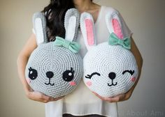 ***This is the FREE PATTERN for my Snuggle Bunny Pillows! I highly recommend reading through my STEP-BY-STEP BLOG POST HERE to better understand this written pattern and to visually see how all the pa
