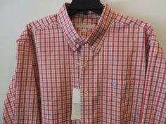 Southern Tide LS Skip Jack Port Side Red Gingham Plaid Shirt XL NWT Fast Ship    #SouthernTide #ButtonFront