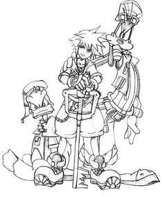 final fantasy character coloring pages - photo#39