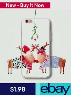 Cases, Covers & Skins Christmas Deer Pattern Diy Case Tpu Slim Bumper Shell For Iphone Samsung Huawei Bump, Cool Phone Cases, Iphone Cases, Deer Pattern, Diy Case, Samsung, Phone Hacks, Christmas Deer, Phone Charger