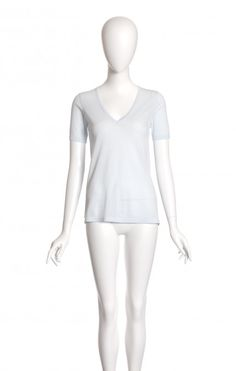 ADRIANA dragee - #cavadesoi #pull #pullover #cotton #egyptiancotton #sustainable #sustainablefashion #summer #summeroutfit #pale #blue #vintage #babyblue #vneck #montreal #canadian #fashion