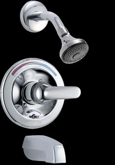 Pressure Balance Tub and Shower Faucet Trim with Metal Lever Handle