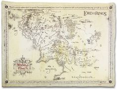 Lord Of The Rings Map Of Middle Earth Vintage Parchment Print $18.99