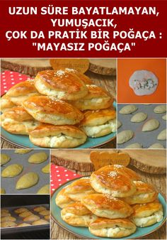 Unleavened Pastry - Yoghurt Pastry - A delicious pastry that is not stale for a long time, easy to make, without yeast - Donut Recipes, Pastry Recipes, New Recipes, Popular Recipes, Delicious Donuts, Delicious Cake Recipes, Yummy Cakes, Macaroons, Tamales