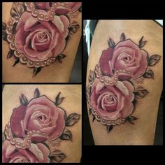 "Sharon on Instagram: ""Tattoo work by: @leannefate @jaynedoetattoo!!!) #supportgoodtattooers #support_good_tattooers #supportgoodtattooing #support_good_tattooing #tattoos_alday #tattoosalday #sharon_alday #sharonalday #sharonallday #tattoosallday #tattoos_allday #sharon_allday #tattoo #tattoos #tattooed #tattoolife #tattooedlife #ink #inked #inkedup #inklife #inkedlife #bodyart #pearls #roses #tattooart #tattoocommunity"""