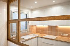cuisine moderne paris rénovation verrière bois