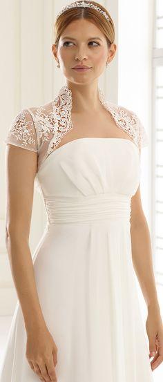 50a8eddffb0f Our bolero E235 as perfect detail to compliete vintage wedding look!   biancoevento  biancobride