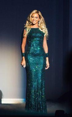 Beyoncé bij de Brit Awards 2014