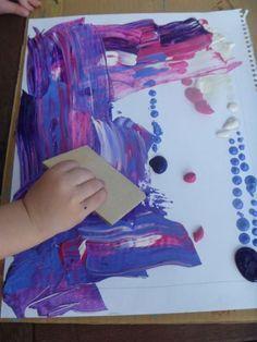 Deslizar el arte. No hay pinceles, con su propia imaginación tendrán que crear su cuadro