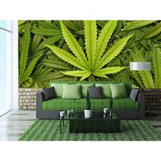Leaf Removable Wall Mural | Self-adhesive Large Wallpaper - 100x144 inches