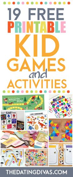 19 Free Printable Kid Games and Activities