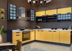 Kitchen Brown And Yellow Kitchens Home Garden Design