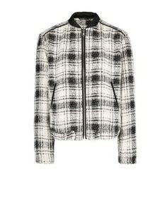 Mango Check bomber jacket