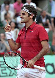 Aww yeahhhh! Federer puts an end to Djokovic's 43 straight victories streak.