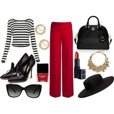 A fashion look from November 2014 featuring striped shirt, wide leg pants and black pumps. Browse and shop related looks. Black Pumps, Wide Leg Pants, Fashion Looks, Legs, Polyvore, Stuff To Buy, Shirts, Shopping, Wide Leg Trousers