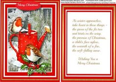 Love4ly Topper With Verse Robins on the Watering Can on Craftsuprint - Add To Basket!
