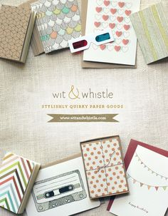 wit and whistle advertisement....such a cool simple photographic approach!