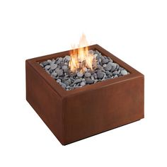 Outdoor Decorative Corten Steel Garden Treasure Gas Fire Pit