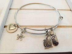 Keep Calm and Love Penguins Bangle Bracelet by FairytaleBangles