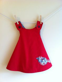 Field Bird Reversible Pinafore - Ready to Ship - 6-12mo