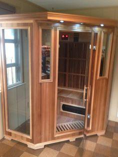 Good Health Saunas GS-Series 3-Person Corner Infrared Sauna #getsweaty #infraredsauna #happycustomer