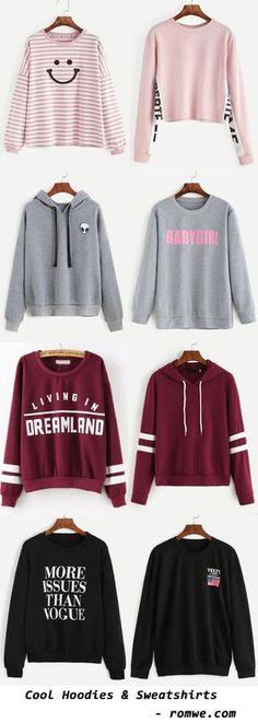 Cool Sweatshirts & Hoodies - romwe.com