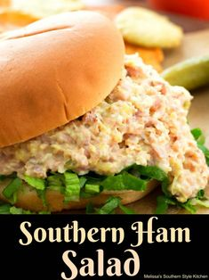 Transform leftover holiday ham into this tasty Southern Ham Salad. It's perfect for slathering on crackers, bread or crostini for snacking and quick meals. Ham Salad Recipes, Pork Recipes, Cooking Recipes, Sandwich Recipes, Ham Salad Sandwiches, Sandwich Fillings, Meatloaf Recipes, Cooking Tips, Recipes