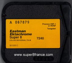 Développement et numérisation de ce chargeur Ektachrome (7240) peut s'effectuer chez SUPER8FRANCE