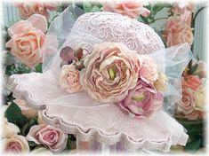 Vintage Pink Tea Hat
