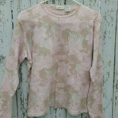 Paisley boho blouse 100% cotton, soft pretty colors. Like new, worn once. St. John's Bay Tops Blouses