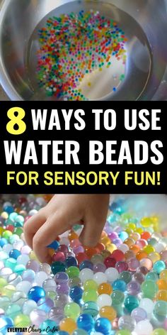 Water Bead Activities for Hours of Sensory Fun is part of Kids sensory activities - Give your child the ultimate sensory experience with water beads! Try out more than 8 water bead activities to keep your preschooler or toddler busy for hours! Nanny Activities, Sensory Activities Toddlers, Autism Activities, Infant Activities, Activities For Autistic Children, Summer Activities For Toddlers, Creative Activities, Outdoor Activities For Preschoolers, Down Syndrome Activities