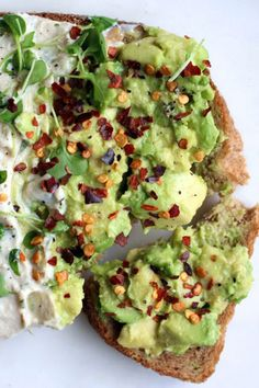 Two-minute avocado toast with lima bean hummus