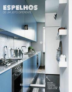 espelho para ampliar a cozinha