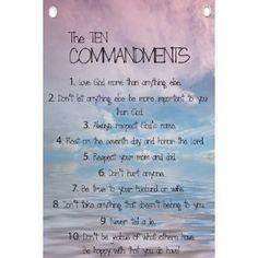 The Ten Commandments for Kids - Wall Quotes Canvas Banner