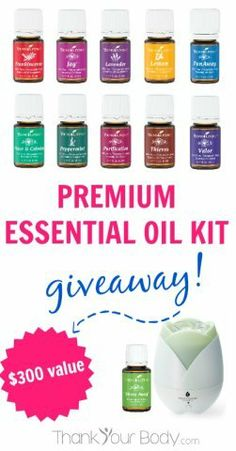 Enter to win a premium essential oil kit worth over $300! www.thankyourbody.com