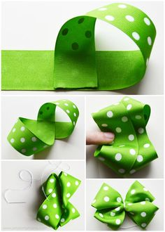 Patrick's Day Bottle Cap Necklace and Hair Bow , St. Patrick's Day Bottle Cap Necklace and Hair Bow Diy Hair Bows, Making Hair Bows, Ribbon Hair Bows, Diy Bow, Ribbon Flower, Baby Bows, Baby Headbands, Flower Headbands, Diy Headband