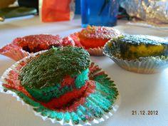 Cupcakes coloridos hechos en casa!!